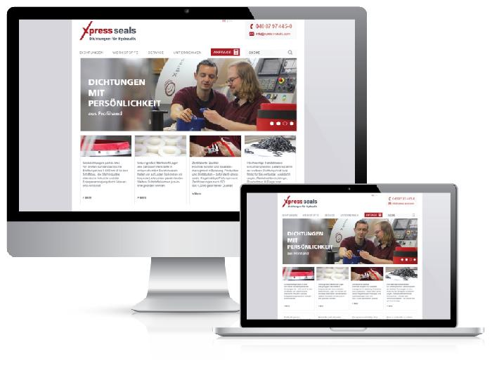 Bestweb Media GmbH :: Referenzen :: Xpress Seals Seite