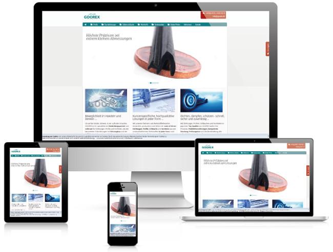 Bestweb Media GmbH :: Referenzen :: Goorex Webseite
