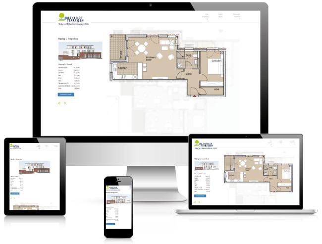 Bestweb Media GmbH :: Referenzen :: Erlenteich Terrassen Webseite