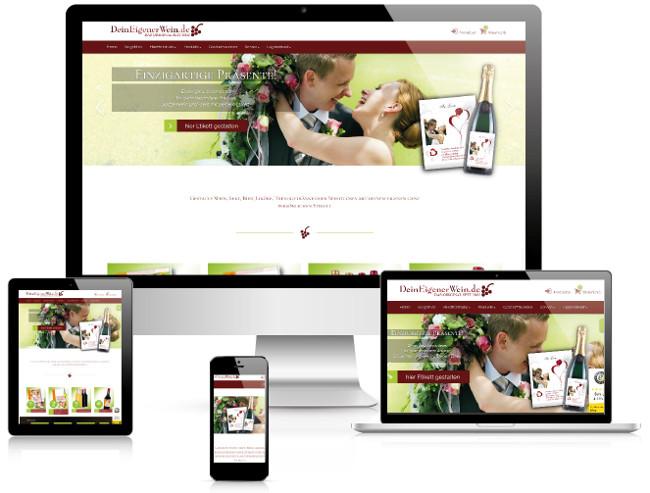 Bestweb Media GmbH :: Referenzen :: Dein-eigener-wein Webseite