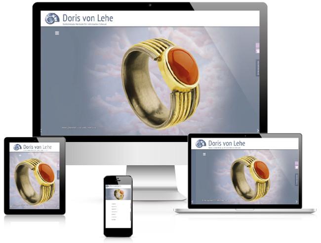 Bestweb Media GmbH :: Referenzen :: Goldschmiede Doris von Lehe Webseite