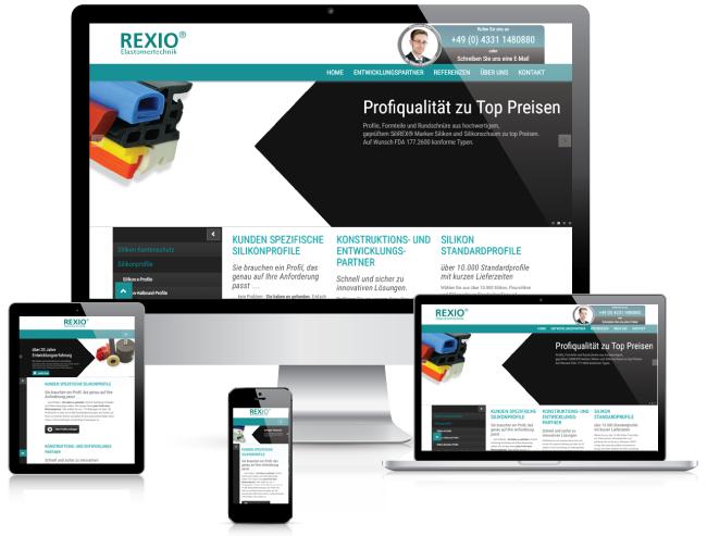 Bestweb Media GmbH :: Referenzen :: Silikon Rexio Seite