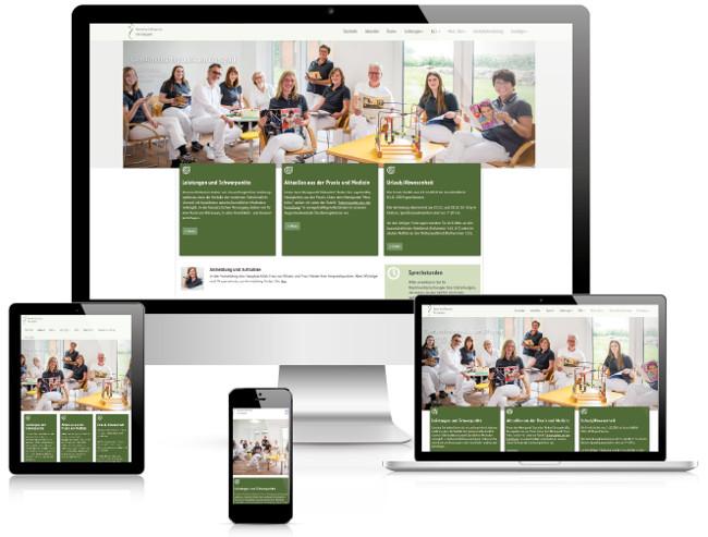 Bestweb Media GmbH :: Referenzen :: Praxis am Gutspark Webseite